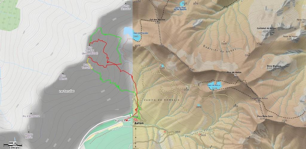 Mapa general salida pico Torrrullas